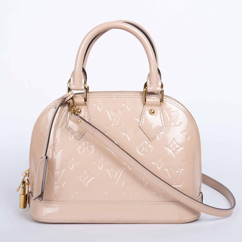 Louis Vuitton Alma Bb Rose Monogram Vernis